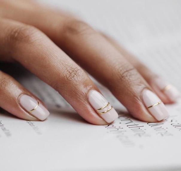 Nude design nails